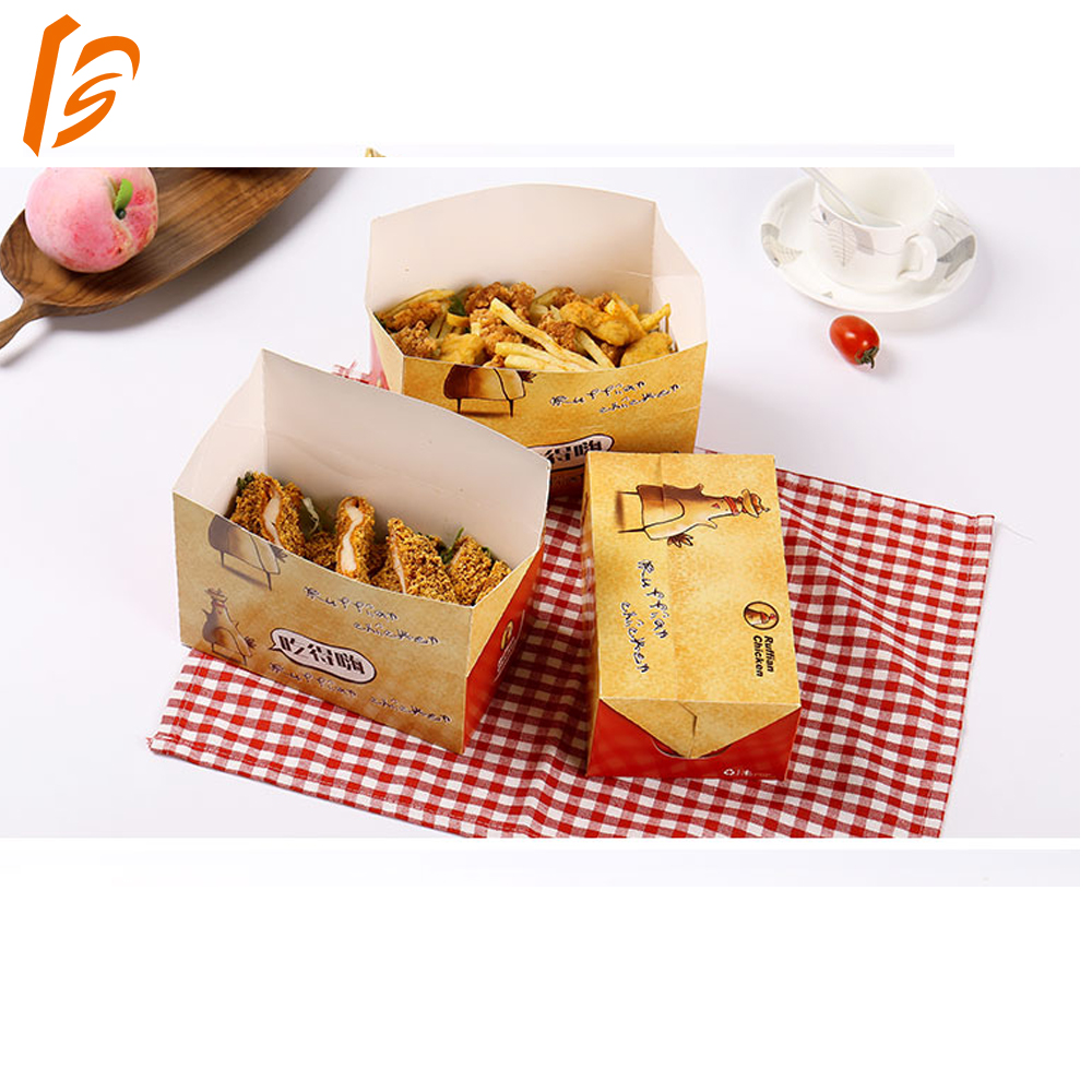 fried chicken box paper take away packaging box for fast food