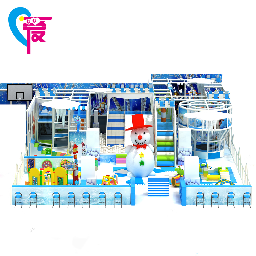 A-15374 Children Ice Theme Park Soft Play Indoor Playground Equipment CE Cheap Games For Sale