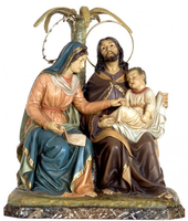 Holy Family Resting on the Flight to Egypt Spanish Statue