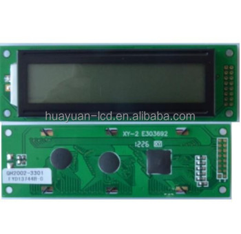 Numeric Matrix 20 x 2Dot Character LCD display Module with 116*37.0*12.8mm Outline Dimensions