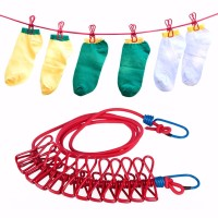 High quality easy assembly adjustable clothsline with clips