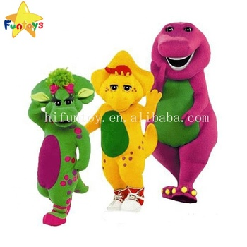 Funtoys CE adult barney costume rental for adults plush the dinasor mascot costume
