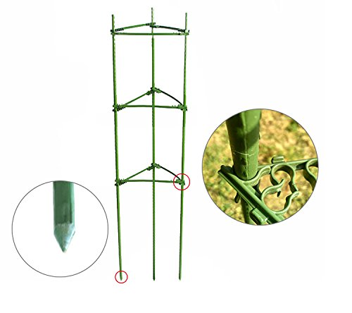 Mr.Garden,Tomato Cages,Plant Cage, Sturdy And Durable,5-Feet High,2 Pack,Triangular,Heavy Duty
