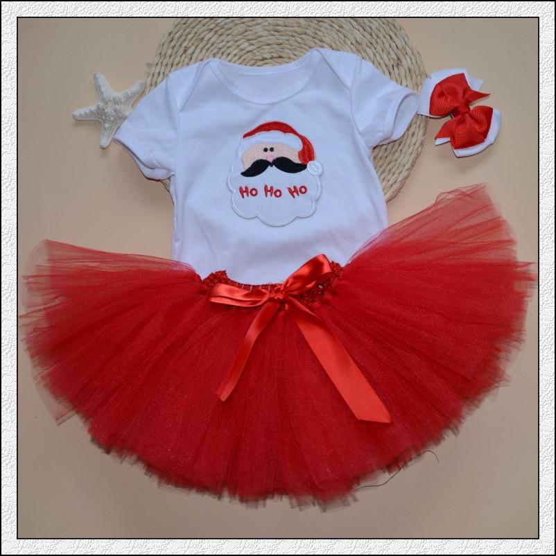 En corea del estilo de fiesta rojo navidad trajes vestidos - Trajes de navidad para bebes ...