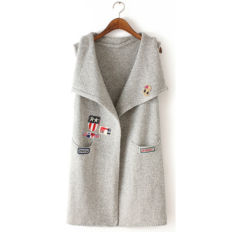 648745cb6915d Get Quotations · New fashion casual 2015 autumn and winter knitted vest  long cardigan colete feminino veste femme chalecos