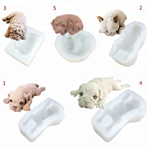 whosale Shar Pei Silicone Mold Mousse Cake Decoration Dirty Dog Chocolate Ice Cream Baking Mold Factory Direct