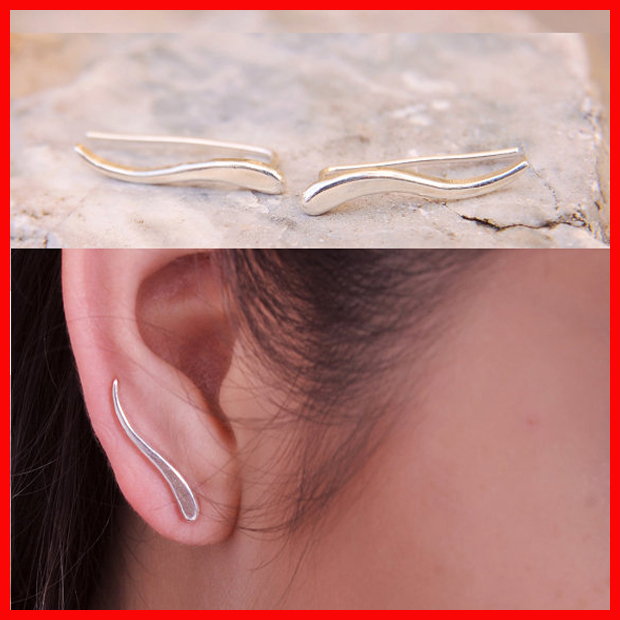 925 sterling silver cheap cute girls jewelry climber earring