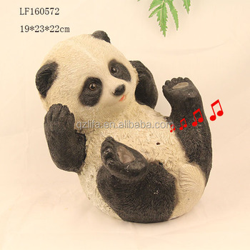 Resin Craft Sensor Panda Garden Statues