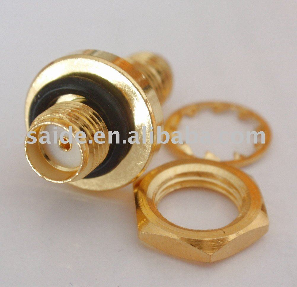 SMA female to female bulkhead O-ring waterproof connector