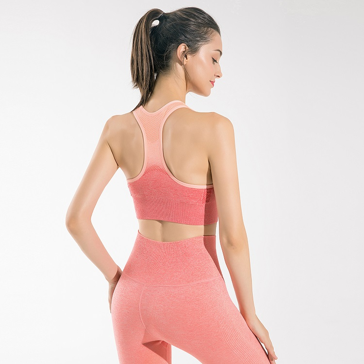 Hot Sale Breathable Gym Wear Running Two Piece Fitness Gym Yoga Set