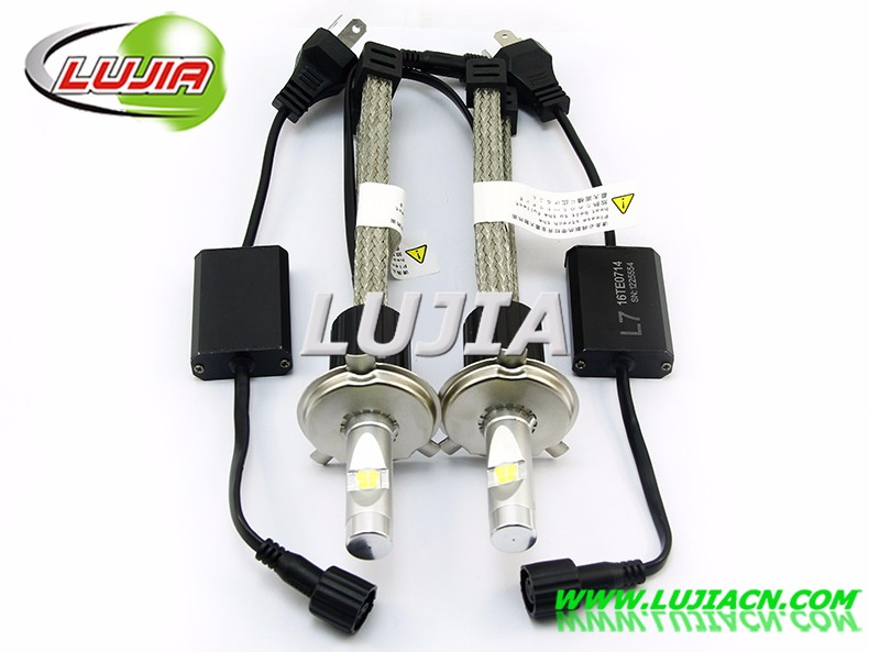 High performance L7 led headlight bulb H4 canbus xhp70 led kit lamp 6000K 4300K P70