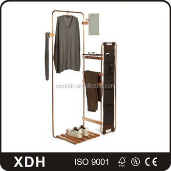 new portable floding clothes rack metal clothing display stand - Metal Clothes Rack