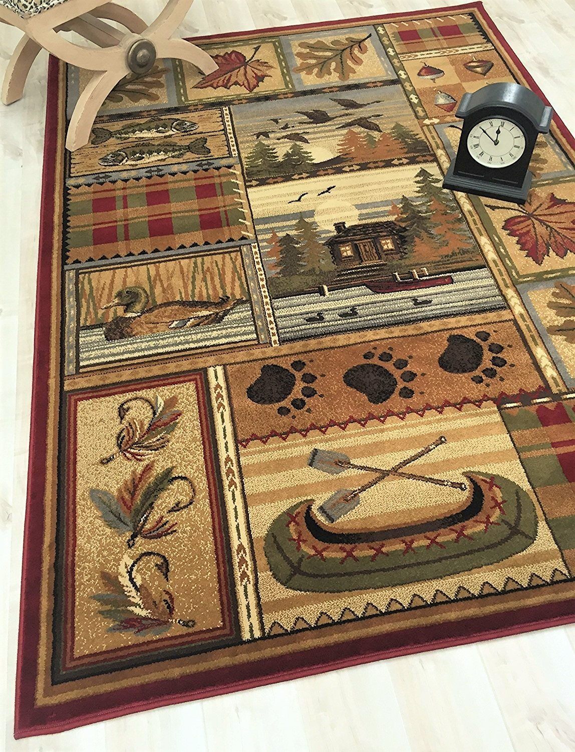 Hr Nature And Animals Cabin Area Rug