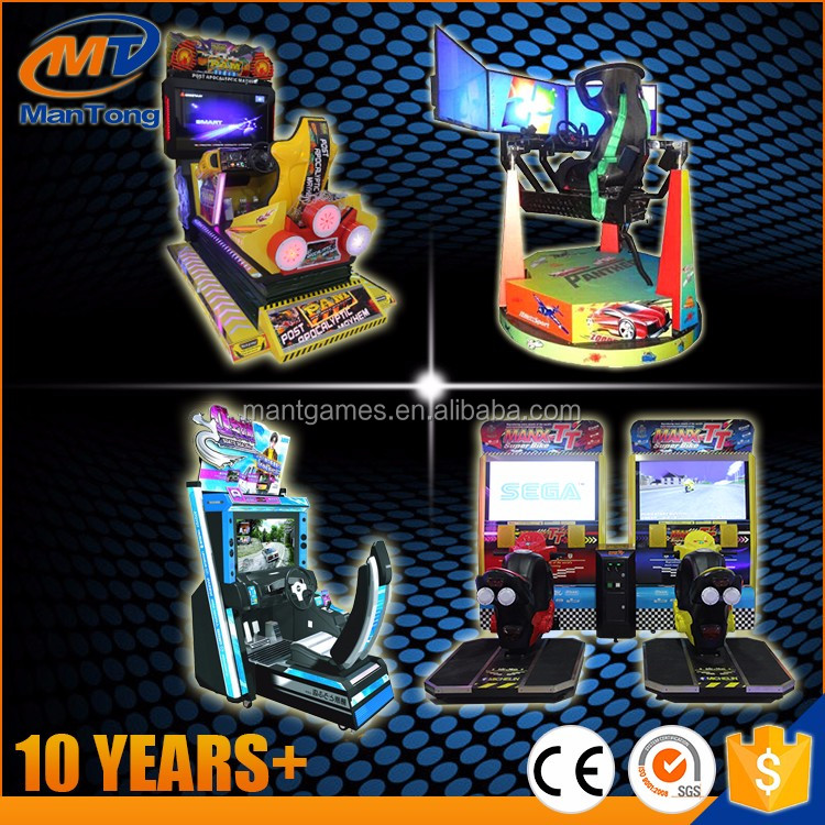 Coin Pusher Arcade Play Games Initial D Driving Car Racing Simulator Game Machine For Amusement Park