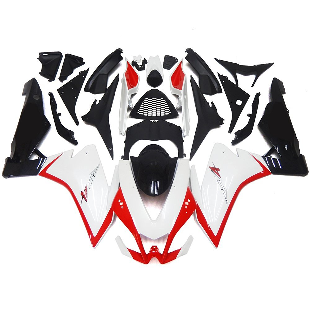 Sportfairings Plastic Injection ABS Fairing Kits For Aprilia RSV4 1000 2010 - 2015 Year10 11 12 13 14 15 Motorcycle Body Kits Pearl White Black Matte Covers