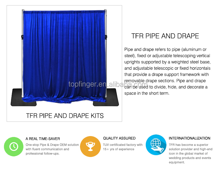 3m x 6m Pipe And Drape Stage Backdrop Stand For Sale