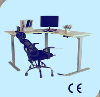 2016 Modern electric height adjustable corner office workstation with good price