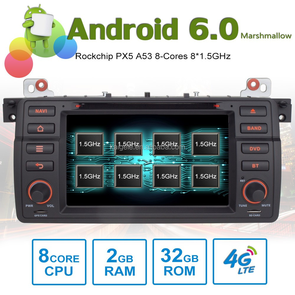 8 core Android6.0 octa core car stereo for BMW e46 M3 GPS with 8 Cores 2GB RAM 32GB ROM support 4G SIM Card
