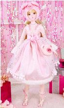 DBS 1/3 BJD кукла механическое соединение тела с макияж, в том числе волосы, глаза, одежда 62 см Высота девушки(Китай)