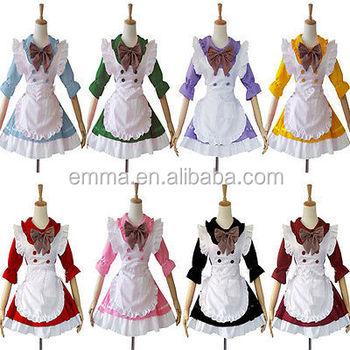 Dewasa Jepang Gadis Lolita Restoran Seragam Pembantu Gaun Kostum