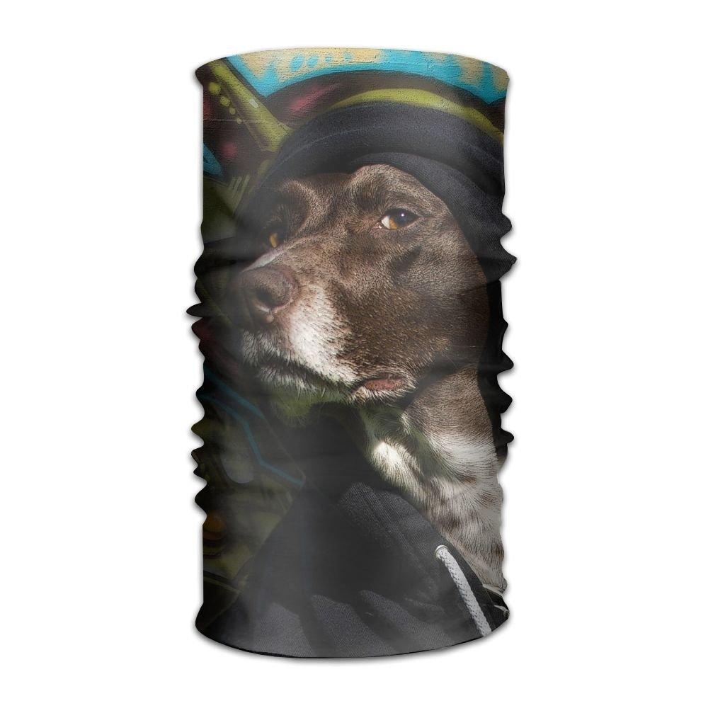 Muchess Cool Dogs-paint Cute Black Grafitti Funny Fashion Dog DIY Pattern Headband Bandana Mask Sports Seamless Breathable Hair Band Turban For Workout, Fitness, Running, Cycling, Yoga