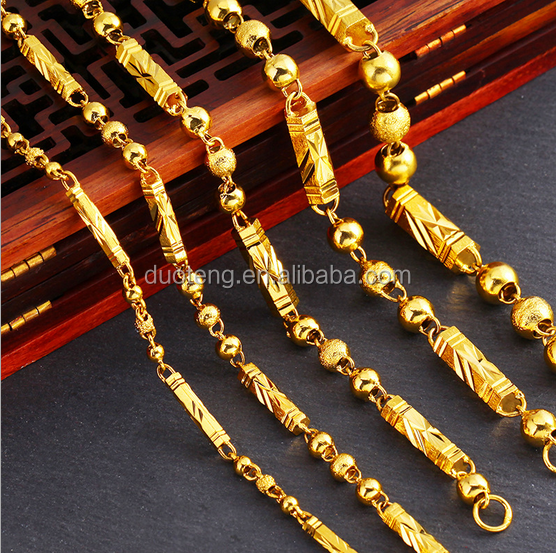 Hot Selling Dubai New 24K Solid Gold Chain Best Design For Men