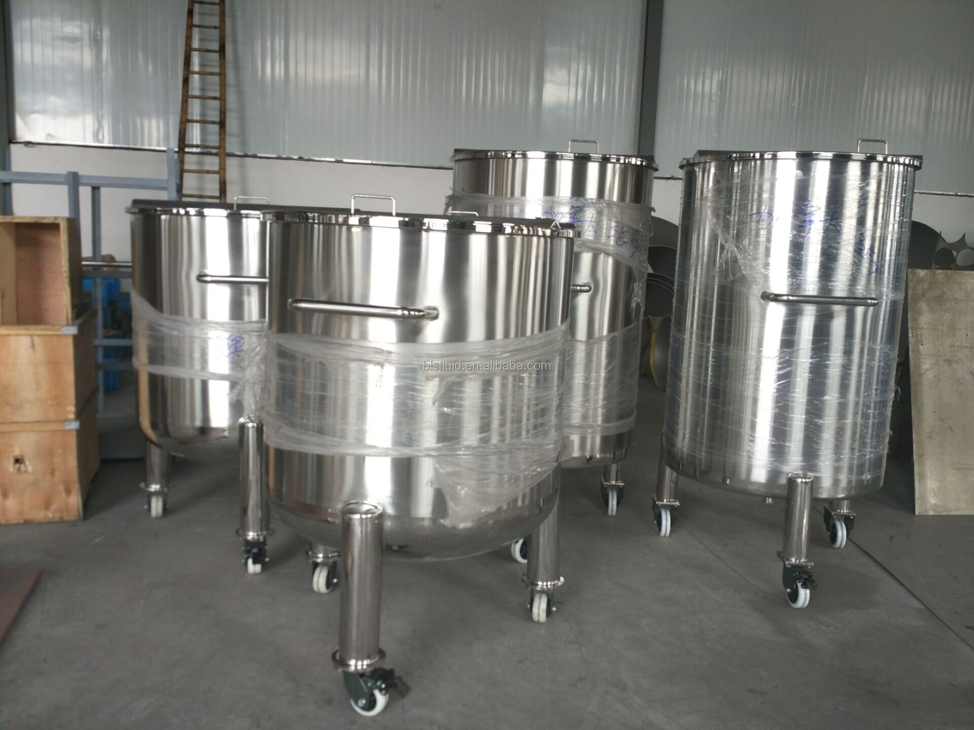 ss316 200l stainless steel storage drums with Caster