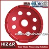 Granite polishing single row diamond cup wheel