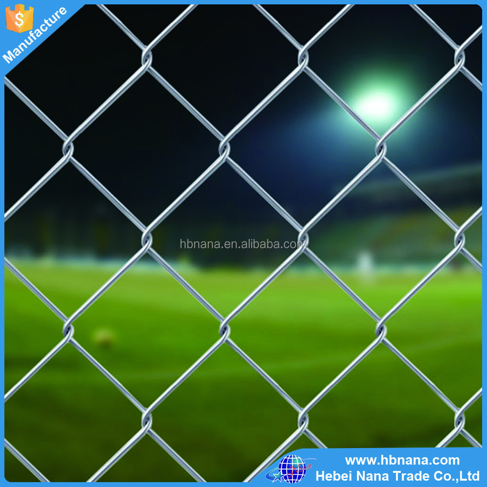Sports barrier wire mesh fening / high protective chain link fence for sports field
