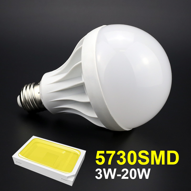 20w e27 led bulb smd 5730 220v 110v high power led lamp cool white warm white light for 180. Black Bedroom Furniture Sets. Home Design Ideas