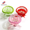 2017 No.1 Yiwu agent hot sale export commission agent 1pc green/pink/red small heart shaped flower decoration basket with ribbon