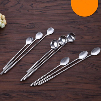 Cocktail Mixing Spoon honey spoon Long Handle Stainless Steel stirring spoon