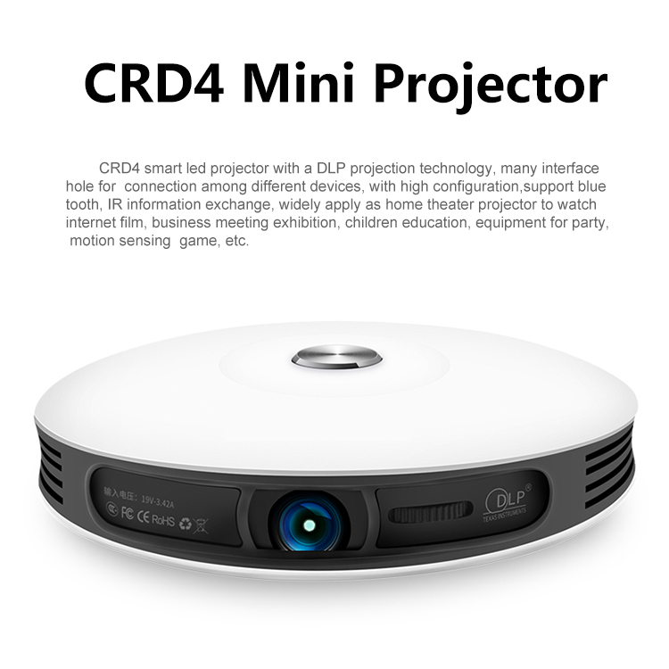 Mini Pocket projector Bluetooth 4k laser projector 40-300 inch project area automatic keystone correction