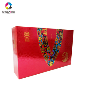 2019 New Design Uv Red Packaging Box High-grade Large Candy Paper China Custom Luxury Glossu Lamination Gift Box