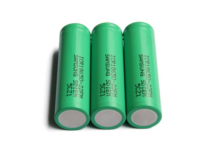 2pcs 3.7V 18650 Rechargeable Battery for Samsung 22FM 2200mah Battery Free Shipping