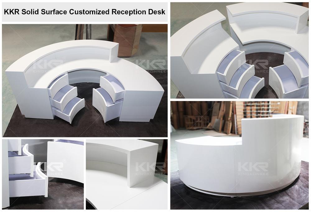 Tavolo in marmo top superficie solida reception scrivania