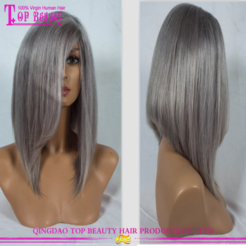 New arrival silver grey human hair lace wigs wholesale cheap popular grey human  hair wigs aafab6e38
