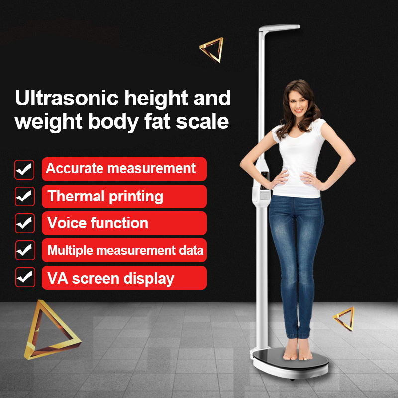 <strong>Weight</strong> Model Printer Weighing Heightometer Hospital Cum Measuring Ultrasonic Body Fat Machine Human Scale And Height Meter