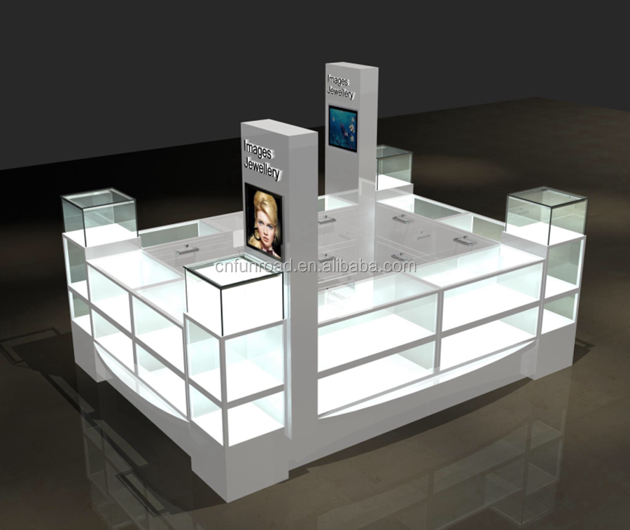 China factory jewellery kiosk mall jewelry showcase design for sale