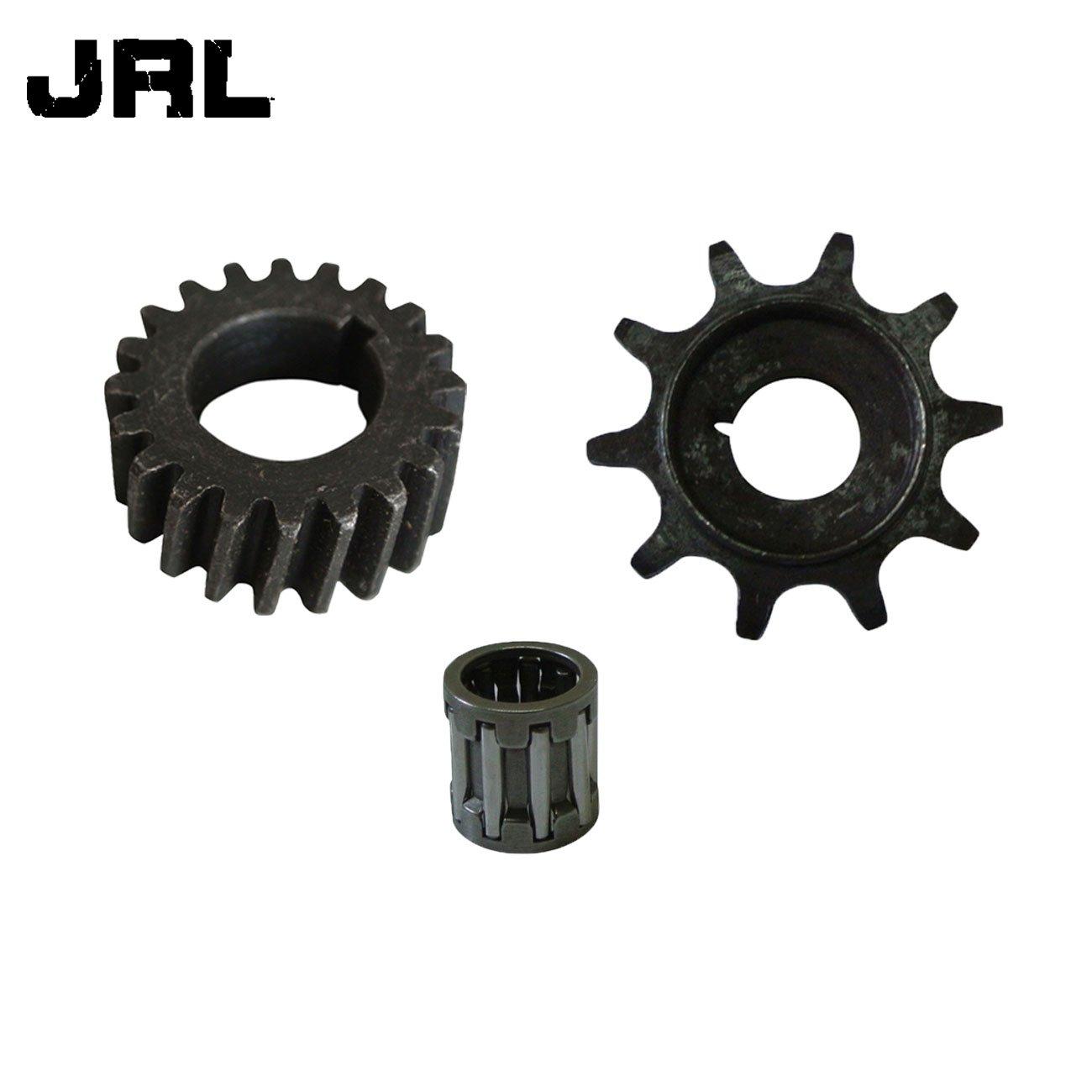 JRL CNC 36T Sprocket Assembly WT Cylinder Head Cover Kit For 80cc Motorized Bike Black