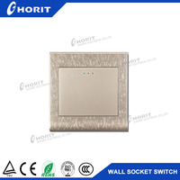 C2 type gather material 1Gang 2 Way Wall socket plate switch