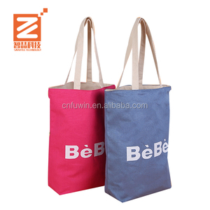 Promotional Eco-Friendly Fashion handle shopping OEM Logo Organic cotton custom canvas tote bag