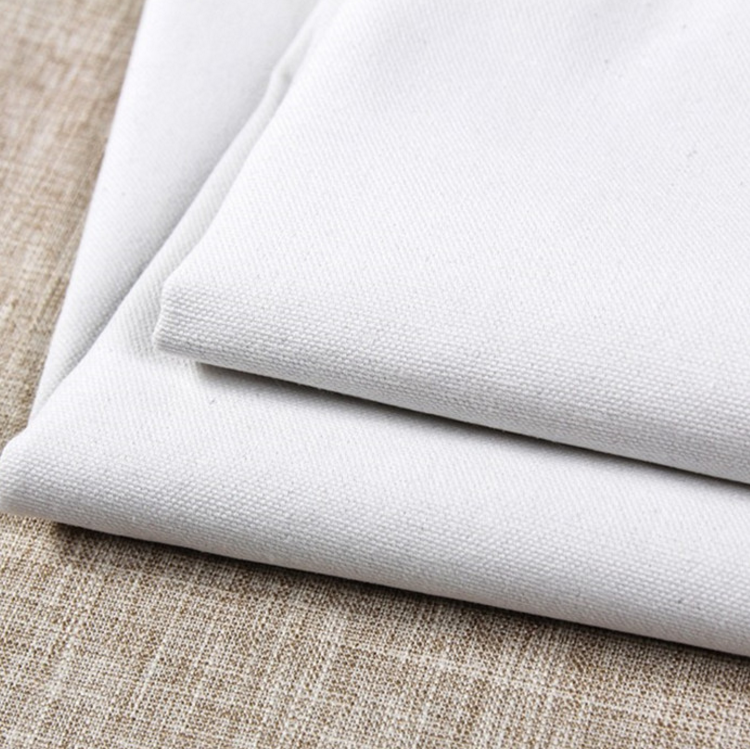 China supplier poly cotton water proof white canvas fabric