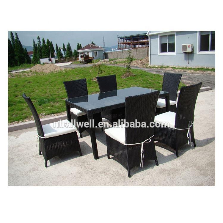 Resin Wicker Restaurant Dining Table