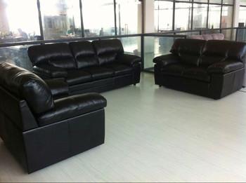 Black Leather Sofa Seat Cushion Cover Living Room Furniture