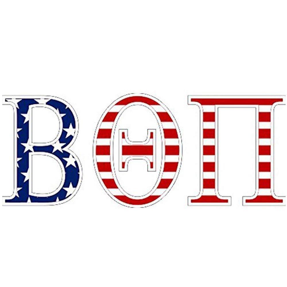 Beta Theta Pi American Flag Greek Letter Sticker