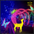 Glitter Luminous Fiberglass Resin 3D Led Lighted Standing Deer Sculpture For Christmas Festival Night View Decor