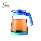 2L Glass Cooler Tea Coffee Water Jug With Lid