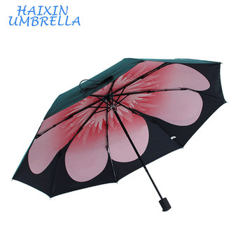 d09ae6cd57b6 Hot Sale Ladies Fashion Uv Nice Original Design Gift Custom Printing Flower  Petals 3 Folding Promotional Sun Umbrella Windproof - Buy Sun ...