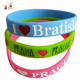 hot selling popular fashion custom christmas gifts silicon wrist bands custom silicon wristband